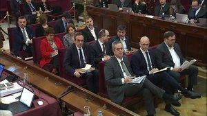 Los presos independentistas, en el juicio por el procés.