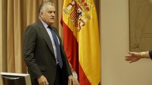 Luis Bárcenascomparece en el Congreso en la comisión sobre la presunta financiación ilegal del PP.