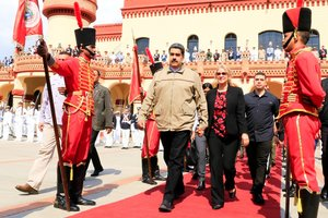 El presidente de Venezuela, Nicolás Maduro, en un evento en Caracas.