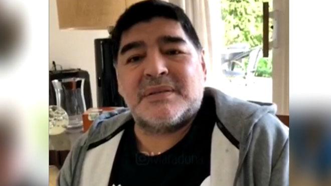 Maradona publica un vídeo para asegurar que no se está muriendo.