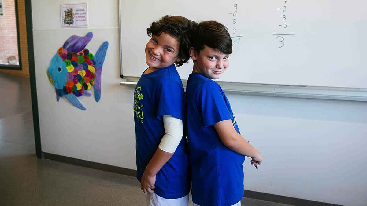 Marc y Eudald, los dos niños de Palau-solità i Plegamans queirán al mundial de cálculo.