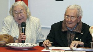 Los sindicalistas Josefina Samper y Marcelino Camacho.