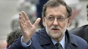 Mariano Rajoy, a su llegada a la cumbre de la UE en Bruselas.