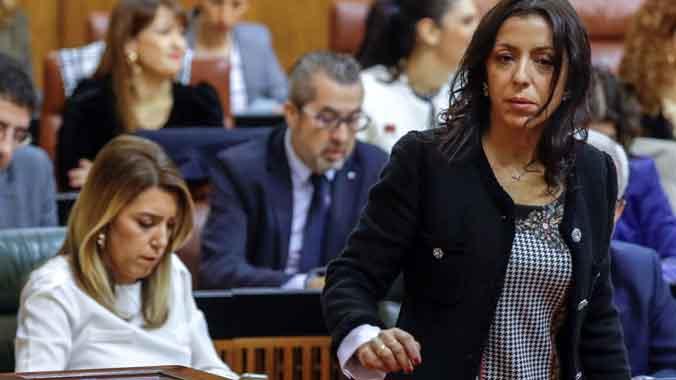 Marta Bosquet, presidenta del Parlamento andaluz con los votos de Vox.