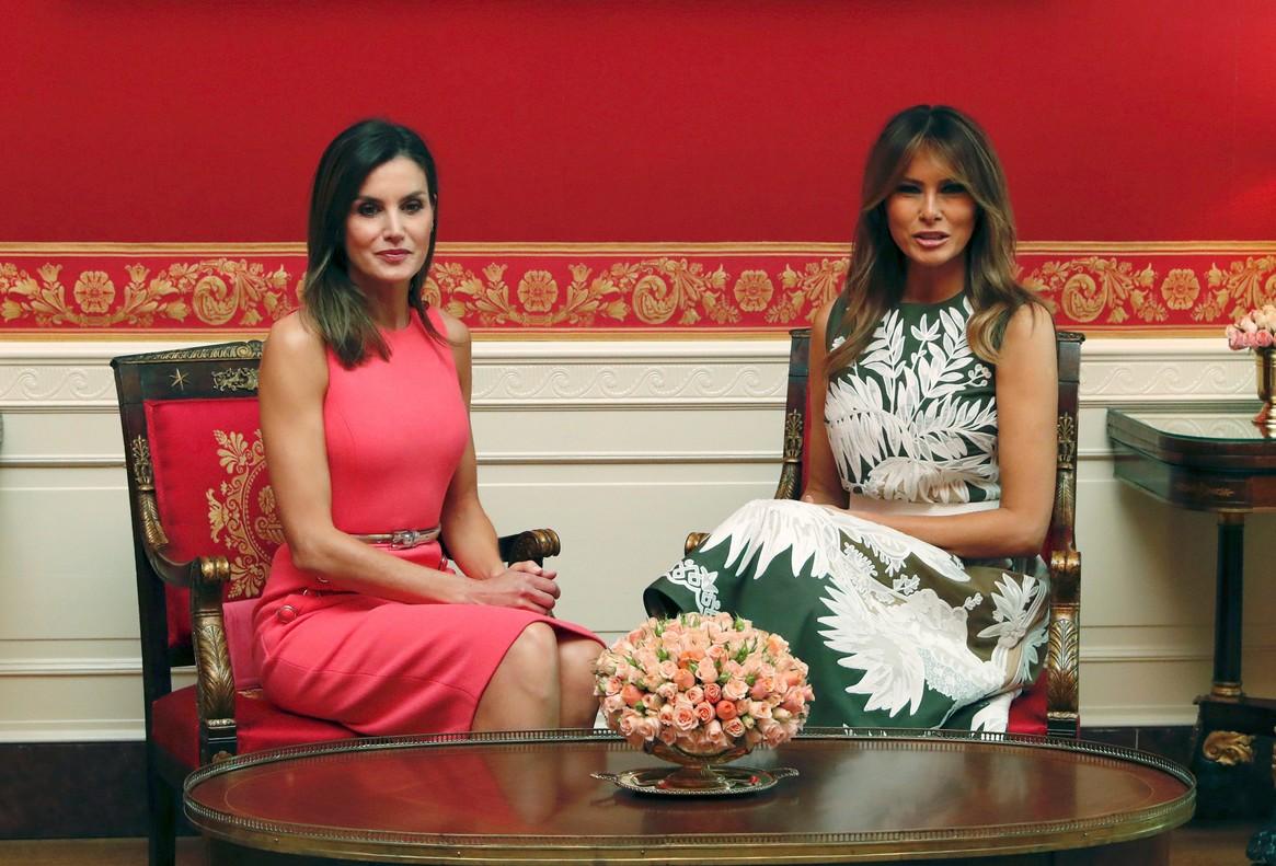 Melania Trump y la reina Letizia, en la Casa Blanca.