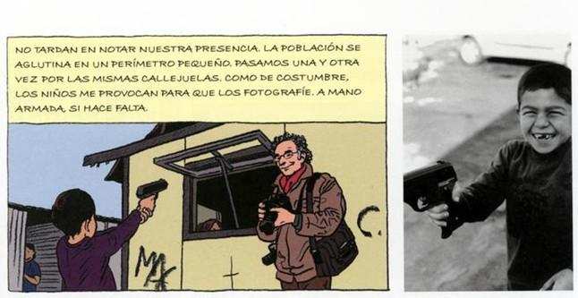 Mezcla de cómic y fotografía en Un viaje entre gitanos.
