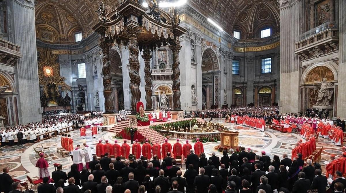 Misa del papa Francisco este miércoles en el Vaticano.