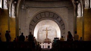 Una misa en la basílica del Valle de los Caídos.