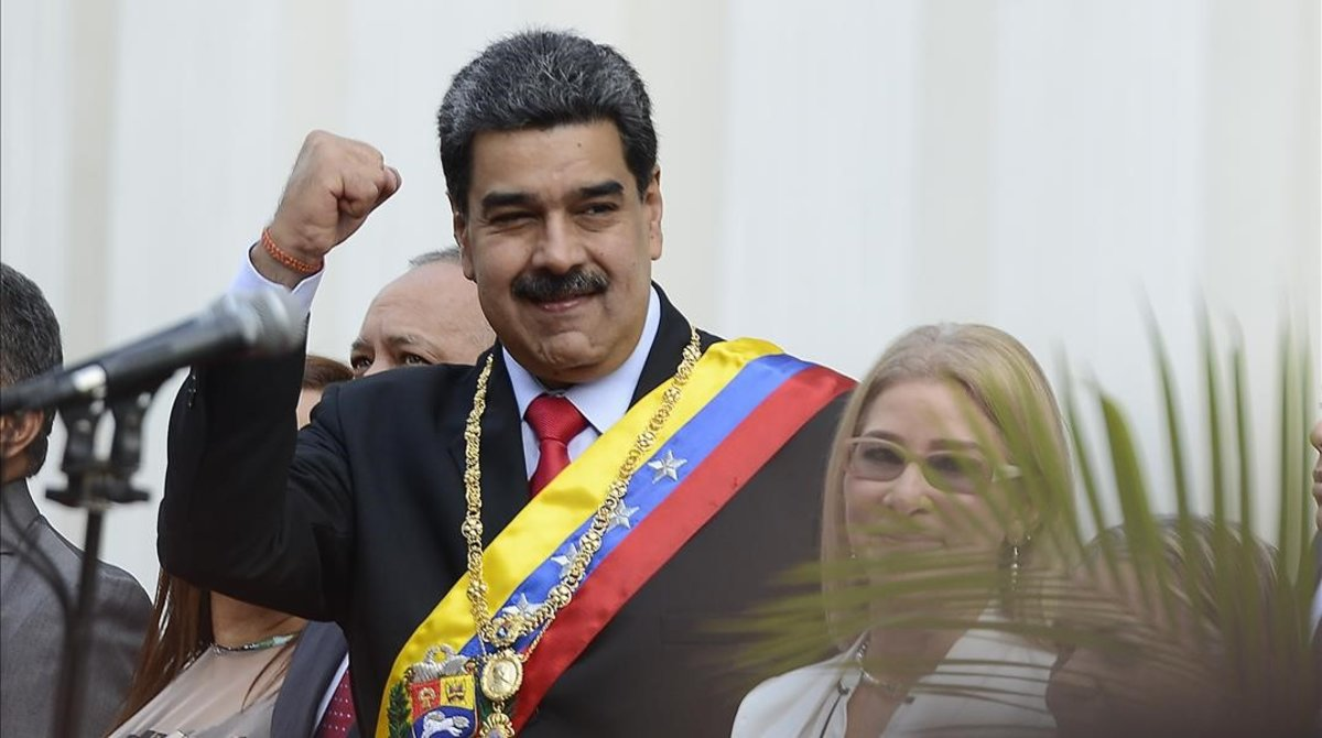 Nicolás Maduro, presidente de Venezuela, este domingo.