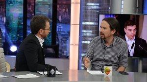 """Pablo Iglesias en 'El hormiguero': de la """"cagada"""" del cartel de 'vuelve' al rifirrafe con Motos por el chalet"""