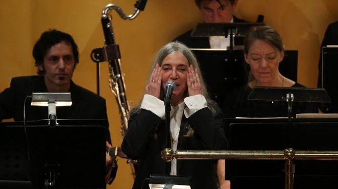 Patti Smith, en la ceremonia de los premios Nobel 2016.
