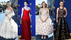 Penélope, Rachel Brosnaban, Millie Bobby Brown y Emilia Clare, en los Emmy 2018.