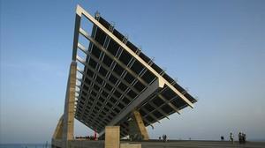 Pérgola fotovoltaica del Fórum de Barcelona.