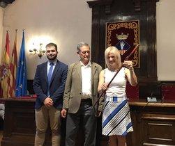 Pilar Díaz, este sábado después de ser reelegida alcaldesa de Esplugues.