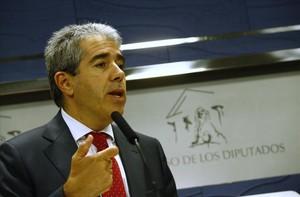 El portavoz convergente en el Congreso, Francesc Homs, en una reciente rueda de prensa
