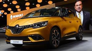 Presentación del nuevo Renault Scénic en el Salón de Ginebra.