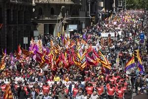 Primero de Mayo en Barcelona en el 2016.