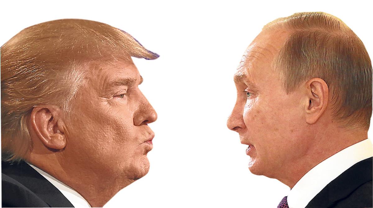 Putin i Trump, davant del mirall