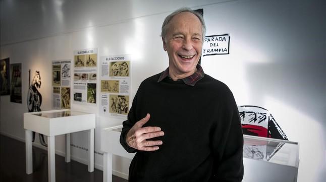 El escritor norteamericano Richard Ford, en la Biblioteca Jaume Fuster.