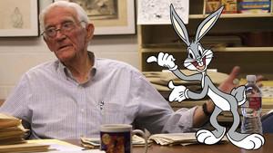 Robert Bob Givens y su famoso conejo.