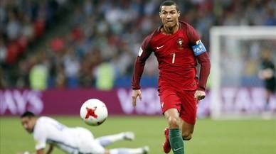La agonía de Cristiano Ronaldo contra España