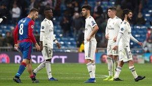 Vinicius, Asensio, Valverde e Isco, en el partido ante el CSKA del miércoles.