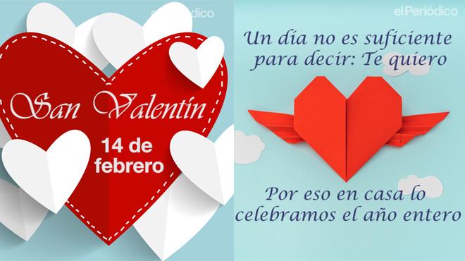 30 frases e imágenes de amor para el Día de San Valentín (y 5 memes para solteros)