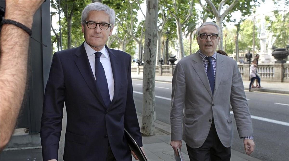 Sergi Alsina acude a declarar a la Audiencia de Barcelona por el caso ITV, en junio del 2013.