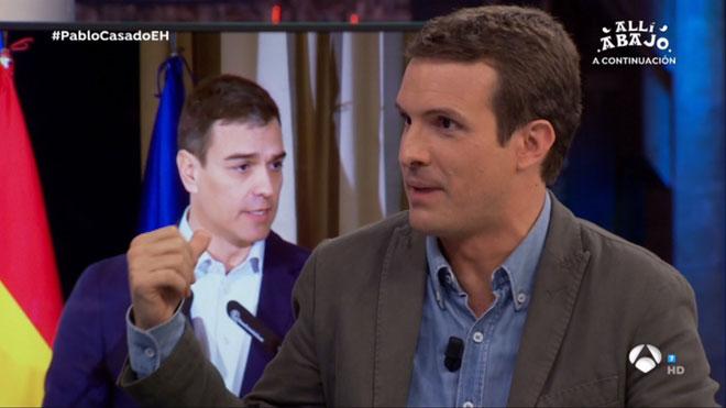 A Casado li urgeix un duel amb Sánchez
