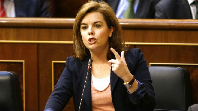 La vicepresidenta le ha recordado a Rodríguez que ella cobró durante meses la censantía que perciben los exsecretarios de Estado.