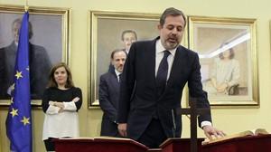 El subsecretario de presidencia, Federico Ramos, en su toma de posesión.
