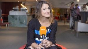 Barei, la representante de TVE en el Festival de Eurovisión, en Estocolmo.