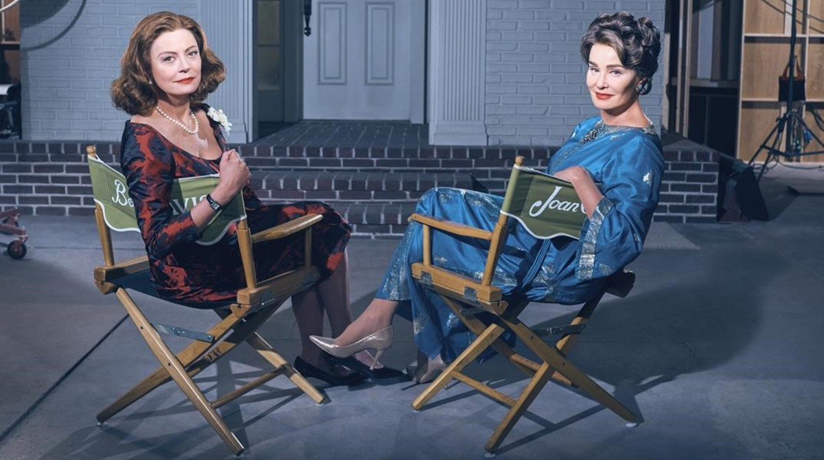Susan Sarandon y Jessica Lange, en una imagen promocional de Feud, serie de la cadena HBO.