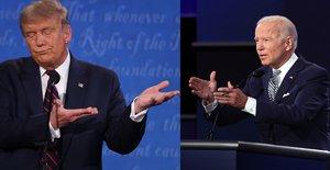 Trump y Biden debaten desde sendos podios situados a una distancia superior a la habitual debido a la COVID-19.