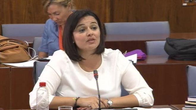 Una diputada del Parlamento andaluz utiliza el catalán en la cámara.