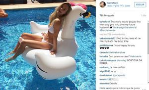 Una de las últimas fotos que Bar Refaeli ha colgado en su cuenta de INSTAGRAM.