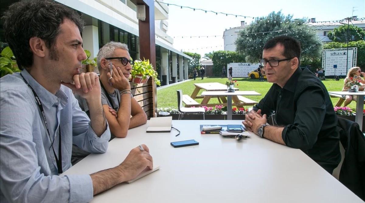 Juan Manuel Freire (en primer plano) y Julián García, en la charla con Ángel Sala, director del Festival de Sitges.