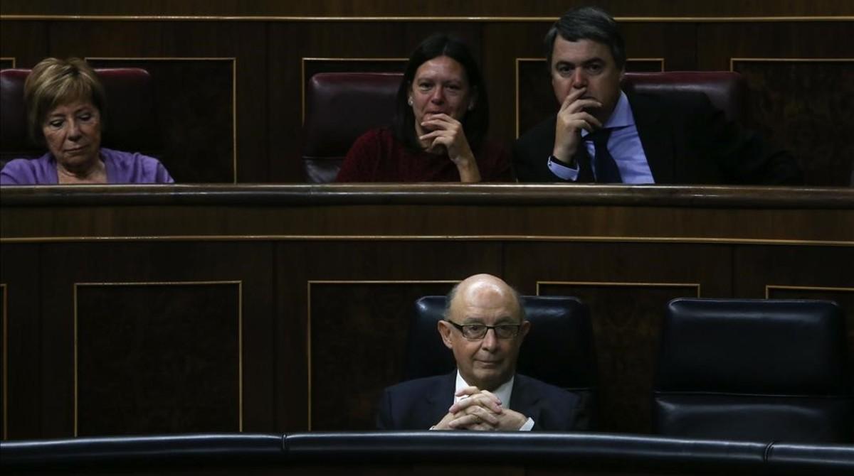 Cristóbal Montoro, este miércoles en el Congreso de los Diputados.