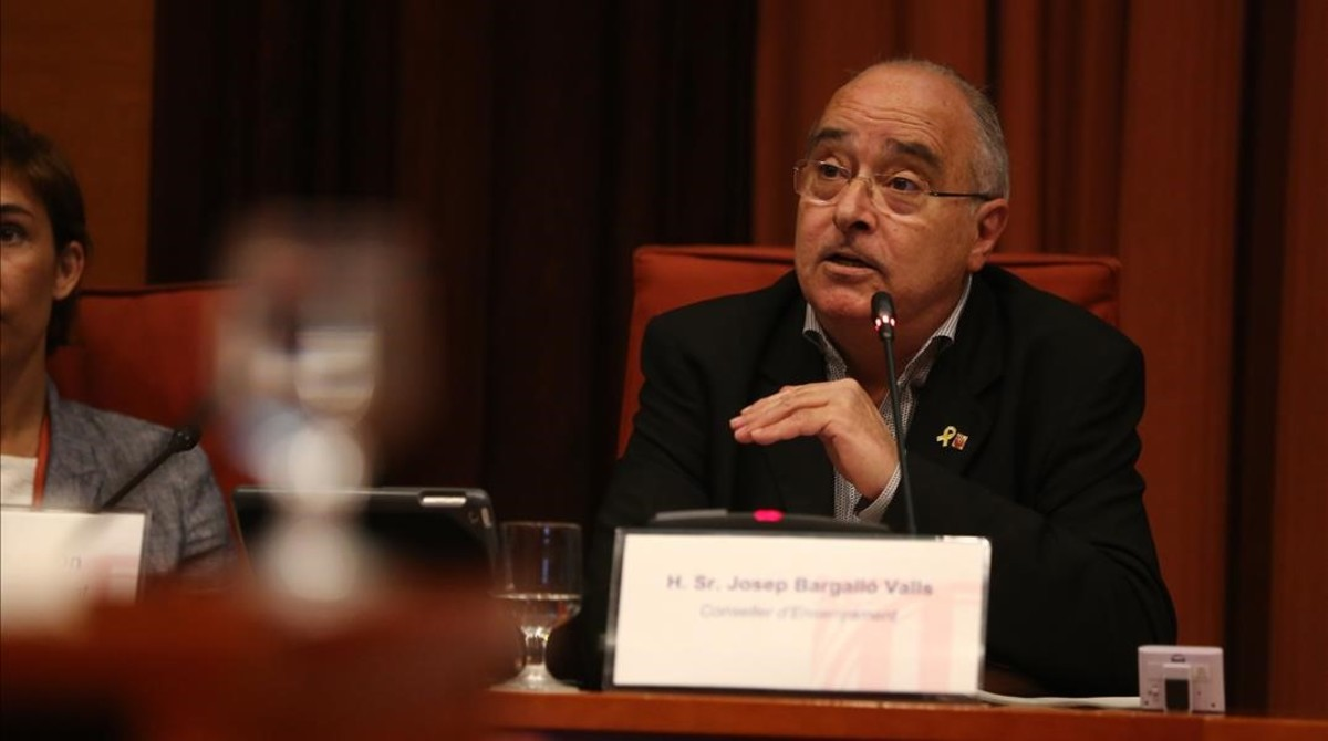 El 'conseller' de Educació, Josep Bargalló, en el Parlament.