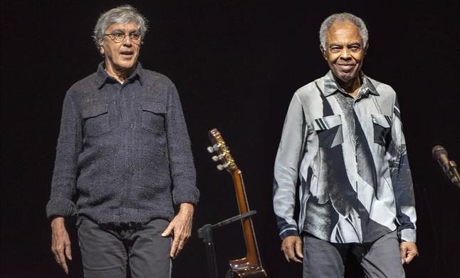 Caetano Veloso (izquierda) y Gilberto Gil, en su última actuación en Barcelona el año pasado.