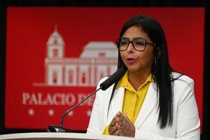 Delcy Rodríguez, vicepresidenta deVenezuela.