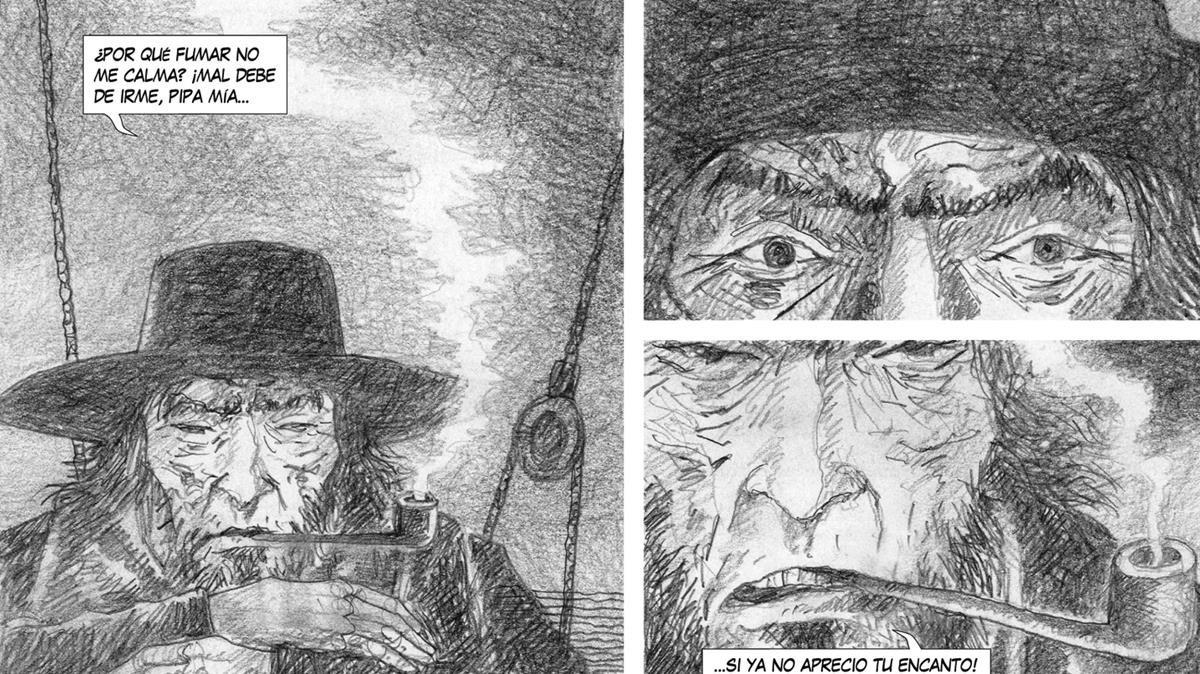 Viñetas del cómic 'Moby Dick', de José Ramón Sánchez.