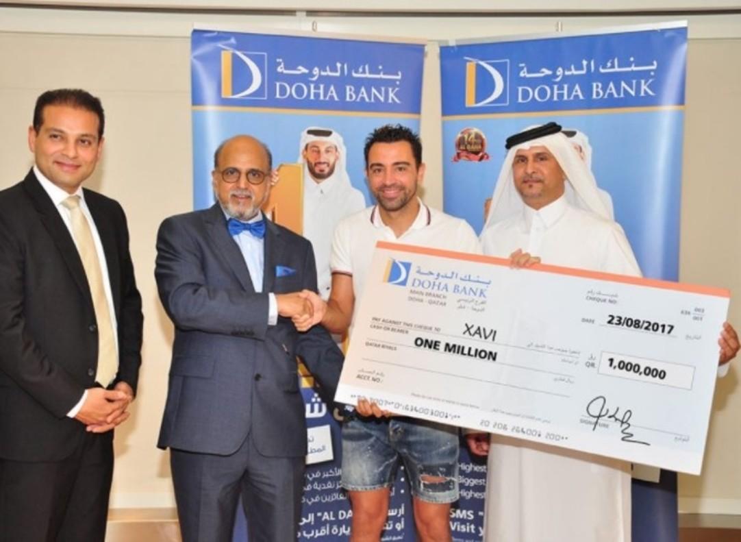 Xavi gana 230.000 euros en un sorteo de su banco catarí