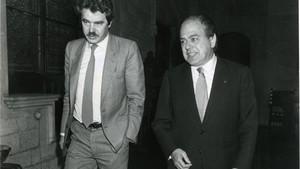 Pasqual Maragall y Jordi Pujol, en una imagen de mayo de 1985.
