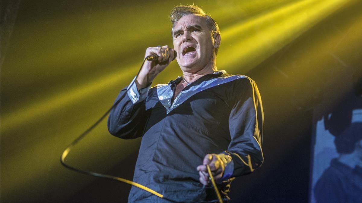 Morrissey, en concierto en Razzmatazz, en Barcelona, en el 2015.