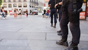 Policías en las calles de Madrid.
