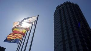 Sede central de CaixaBank en Barcelona.