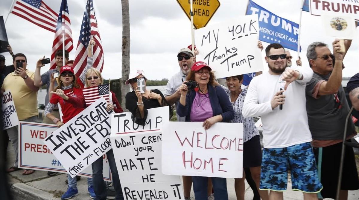 Simpatizantes de Donald Trump, en cuya campaña electoral se usaron noticias falsas.