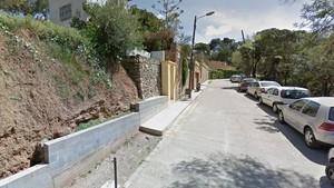 Vista del paseo de Turull, en Vallcarca i els Penitents (Gràcia).