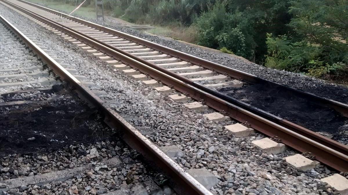 Diada 2020: actes vandàlics a Girona alteren la circulació de trens a Catalunya